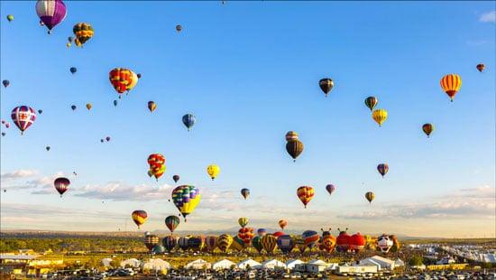 Albuquerque Balloon Fiesta: Timelapse